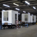 LMS 8x8 shelters on trailer